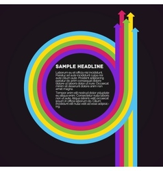 Infographics template Colorful circle arrows vector image