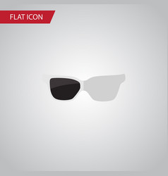 isolated sunglasses flat icon spectacles vector image