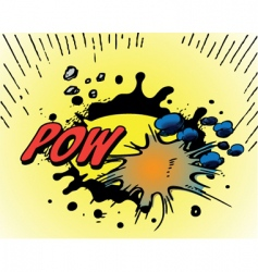 comic book explosions new vector image