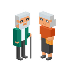 3d isometric family couple people concept flat vector