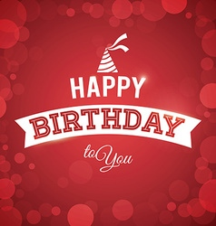 Happy birthday colorful card design vector