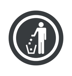 Round black recycling sign vector