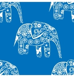 Patterned elephants vector
