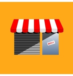 Corner shop cartoon drawing vector