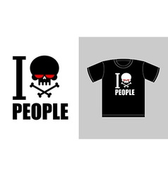I hate people symbol of hatred skull with bones vector