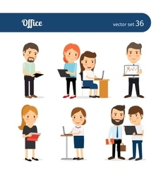 Office people set vector