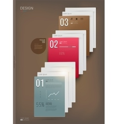 Three steps infographic vector