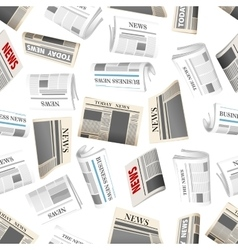 Daily newspapers seamless pattern background vector image