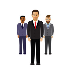 A group of business men vector