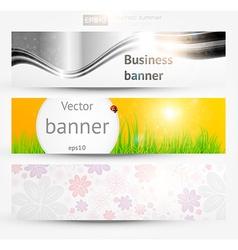 Banner set for businesses vector