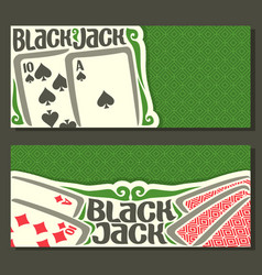 banners of black jack for text vector image vector image