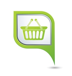 basket icon green map pointer vector image vector image