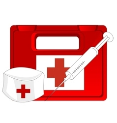 Box with medicine vector