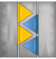 business triangles blue yellow vector image vector image