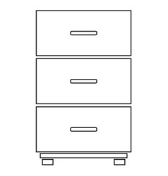 cabinet icon vector image
