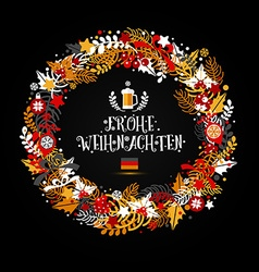 Christmas wreath in colors of a flag of germany vector