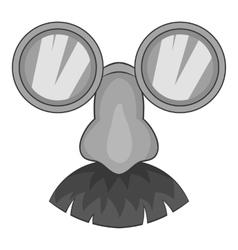 Clown face icon gray monochrome style vector