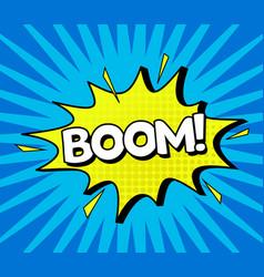 comic speach bubble effect boom vector image