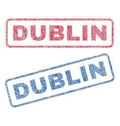 Dublin textile stamps vector