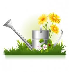 garden watering vector image vector image