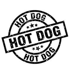 Hot dog round grunge black stamp vector