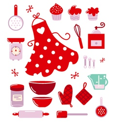 Housewife icons vector