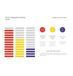 Infographic line diagram or bar design with vector image