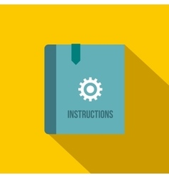 Instruction book icon flat style vector