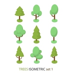 Isometric tree set 1 vector image vector image
