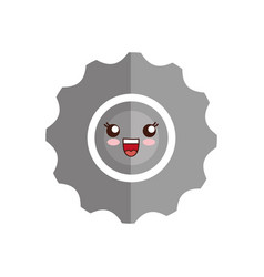 Kawaii gear wheel ico vector