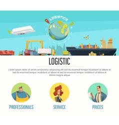 Logistics page design vector