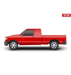 Original classic red Pickup truck vector image