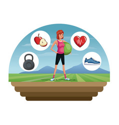 People fitness sport healthcare image vector