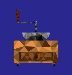 Polygon coffee mill image vector