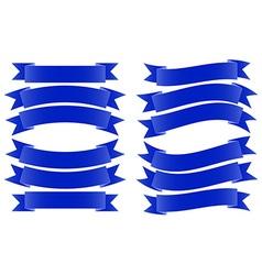Ribbon Banner Dark Blue vector image