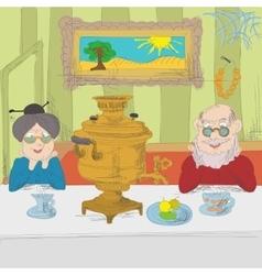 Russian tea party vector image