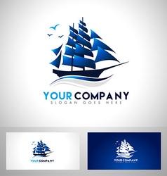 Sailing Boat Logo vector image vector image