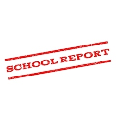 School report watermark stamp vector