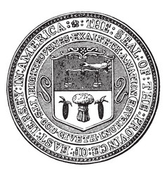 Seal of east jersey vintage vector