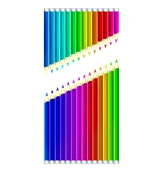 set of color pencils vector image vector image