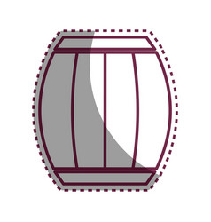 Sticker wool barrel traditional container icon vector