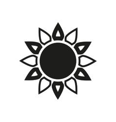 The sun icon Sunrise and sunshine weather symbol vector image