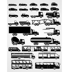 Transport and vehicle set vector image vector image
