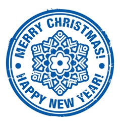 Rubber Christmas stamp vector image
