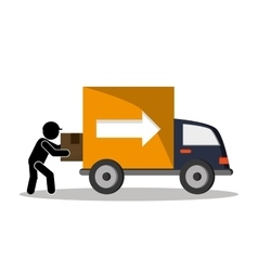 Industry truck package and delivery design vector image