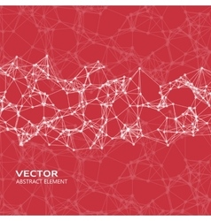 White abstract cybernetic particles vector