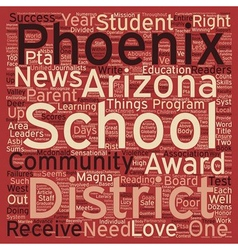 Phoenix schools receive numerous accolades text vector