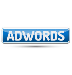 Adwords - abstract beautiful button with text vector