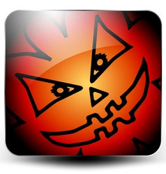 Glossy halloween icon vector
