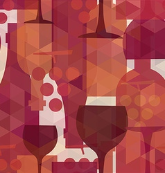 Wine and drink seamless pattern background vector
